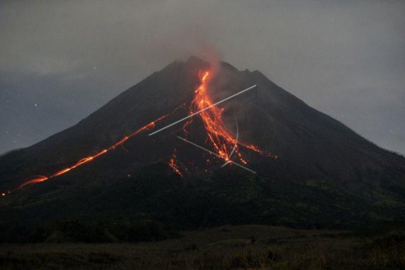 Volume kubah lava di tengah kawah Merapi capai 2 juta meter kubik
