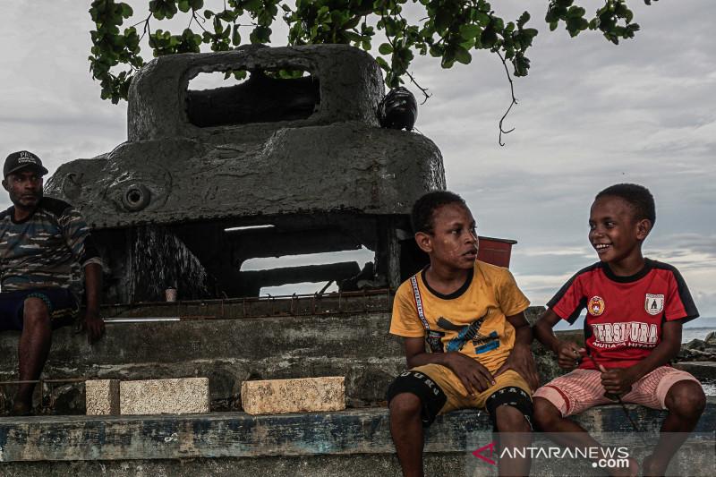Tank bekas Perang Dunia II jadi saksi bisu pendaratan pertama sekutu di Jayapura