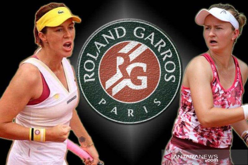 Krejcikova tantang Pavlyuchenkova di final perdana Grand Slam Paris
