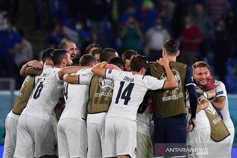 Italia gebuk Turki 3-0 dalam laga perdana Euro 2020