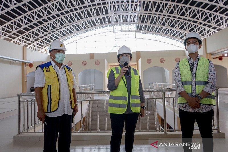 Ketua DPR tinjau pembangunan Pasar Legi Solo yang terbakar pada 2018