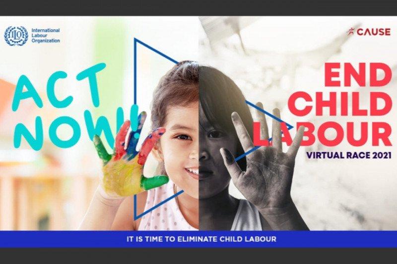 ILO gelar lomba lari virtual gaungkan gerakan hapus pekerja anak