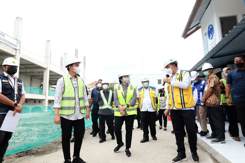 Ketua DPR Puan Maharani tinjau pembangunan Pasar Legi Solo