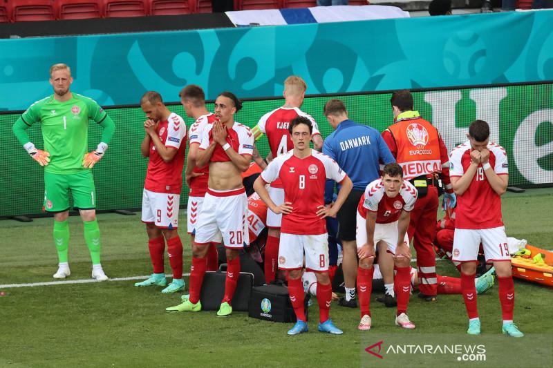 Denmark minta UEFA ubah prosedur pertandingan setelah Eriksen pingsan