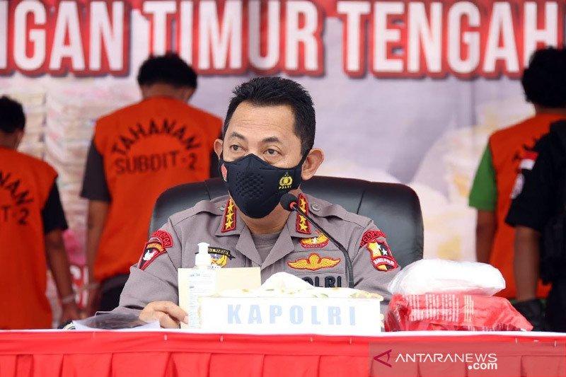 Kapolri: Sindikat Timur Tengah akan edarkan 1,129 ton sabu di Jakarta