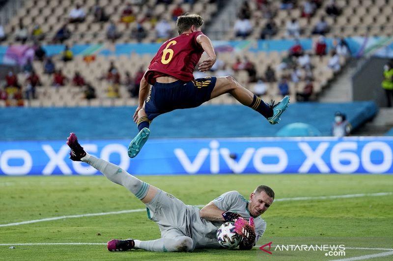 Robin Olsen paksa Spanyol telan hasil imbang 0-0 kontra Swedia