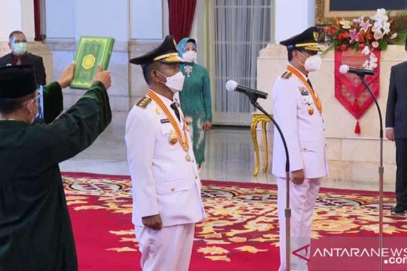 Presiden Jokowi lantik Gubernur-Wagub Sulawesi Tengah 2021-2024
