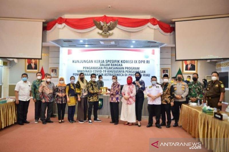 Gubernur Riau paparkan capaian vaksinasi ke Komisi IX DPR RI