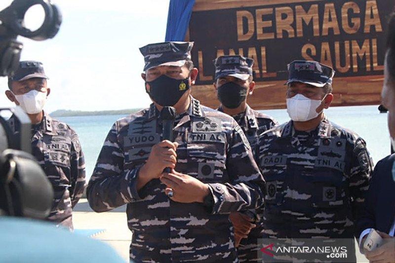 Kepala Staf TNI AL meresmikan Dermaga Lanal Saumlaki Maluku