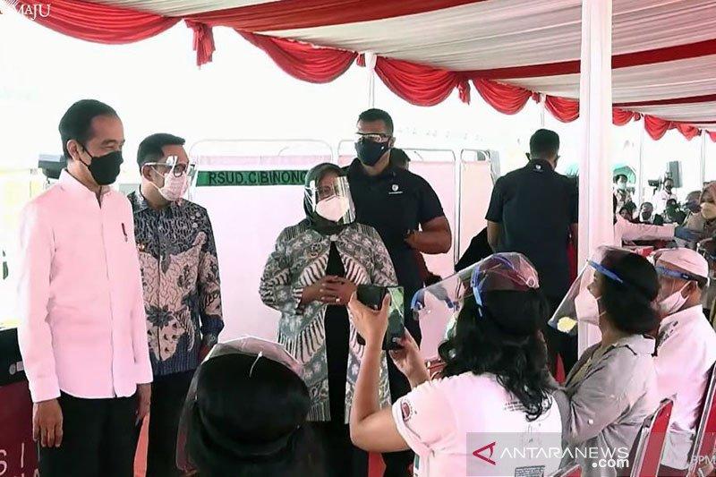 Presiden: Target kekebalan komunal di Kabupaten Bogor tercapai Agustus