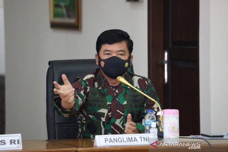 Panglima TNI sebut pentingnya sinergi empat pilar tegakkan PPKM mikro