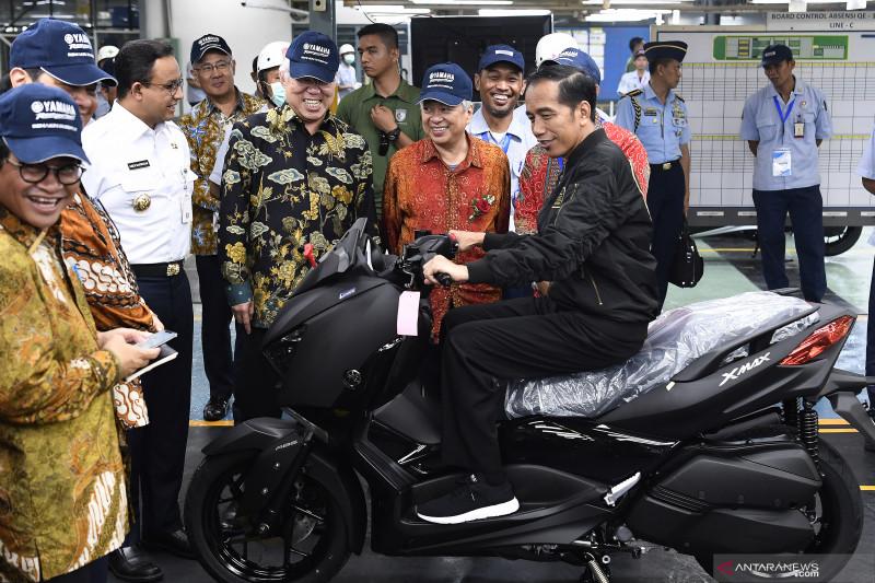 antarafoto presiden lepas ekspor motor yamaha 03122018 pus 2