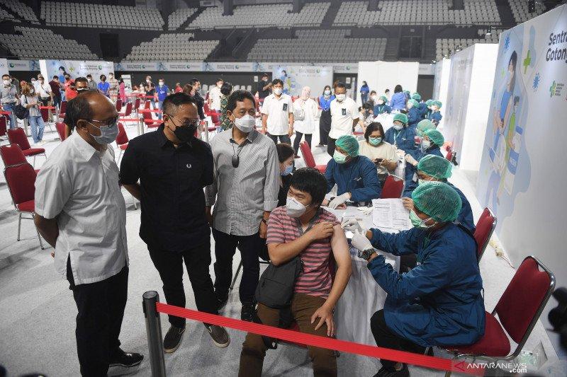 Penerima vaksin lengkap bertambah jadi 12,212 juta penduduk Indonesia