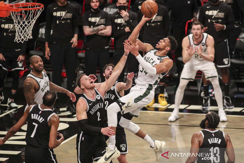 NBA Playoffs: Milwaukee Bucks kalahkan Brooklyn Nets 115-111