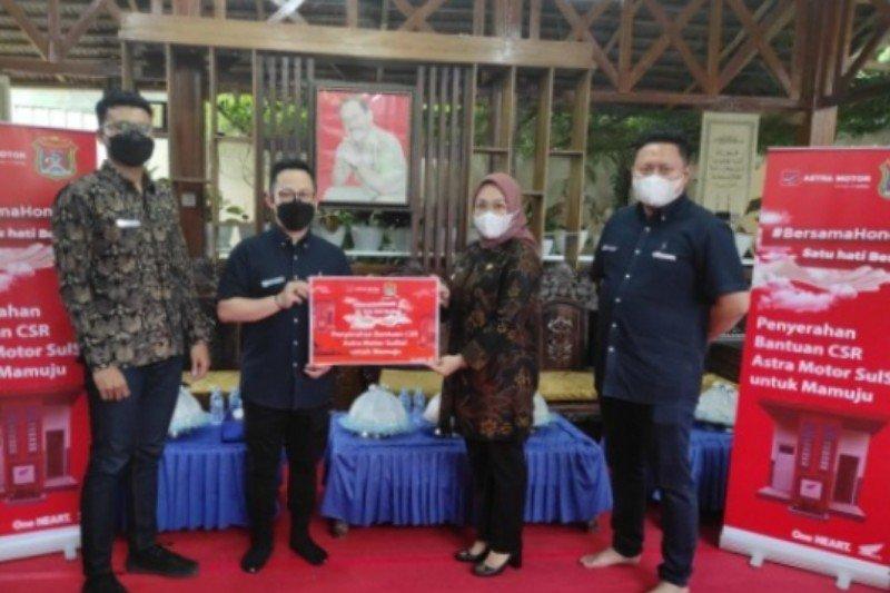 Astra motor bantu warga korban gempa Mamuju fasilitas MCK