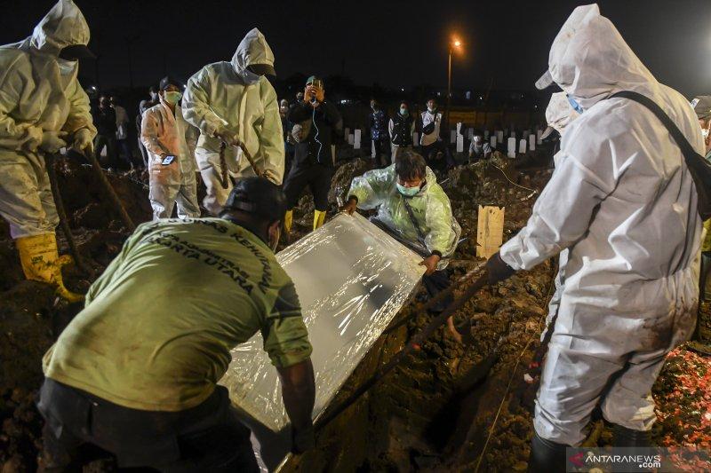 143 pemakaman jenazah COVID-19 di DKI pecahkan rekor tertinggi harian