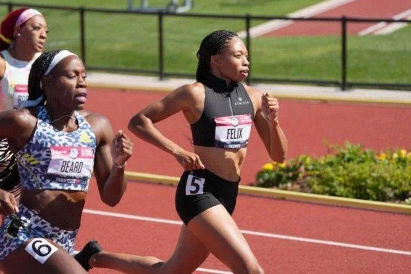 Pelari AS Allyson Felix lolos ke Olimpiade untuk kelima kalinya