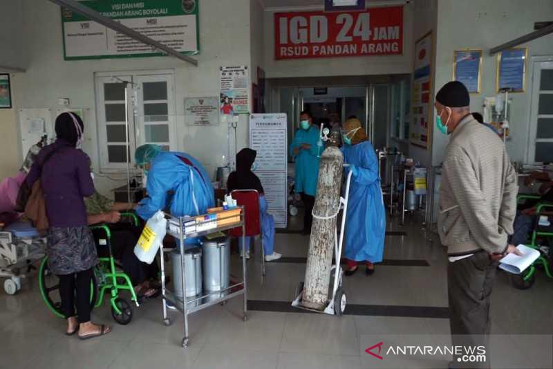 Kasus melonjak, bangsal COVID-19 di RSUD Pandan Arang Boyolali penuh