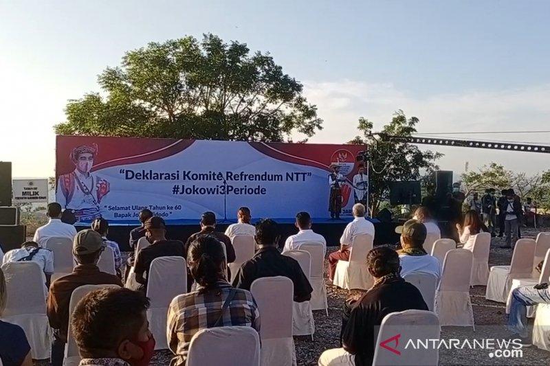 Pengamat: Deklarasi referendum Jokowi tiga periode langgar konstitusi
