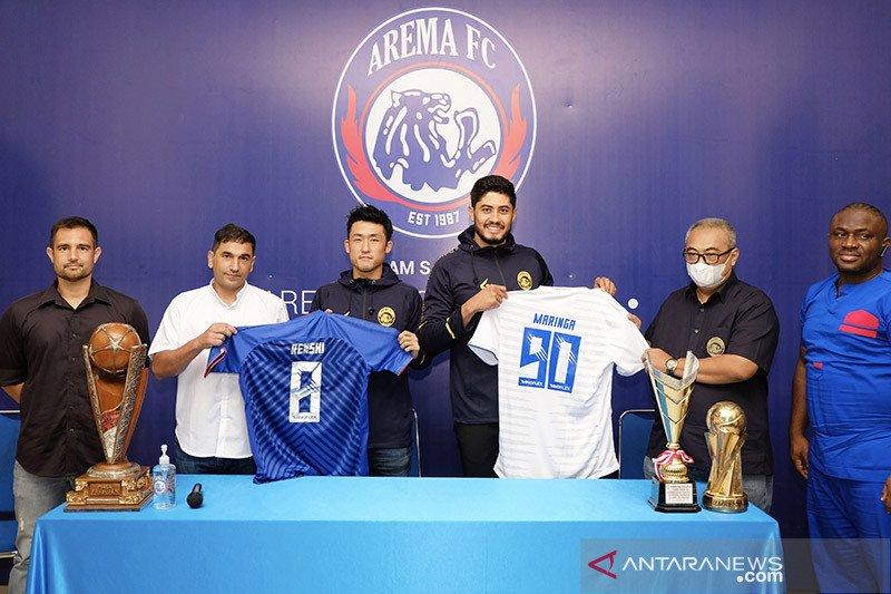 Arema FC resmi perkenalkan Renshi Yamaguchi dan Adilson Maringa
