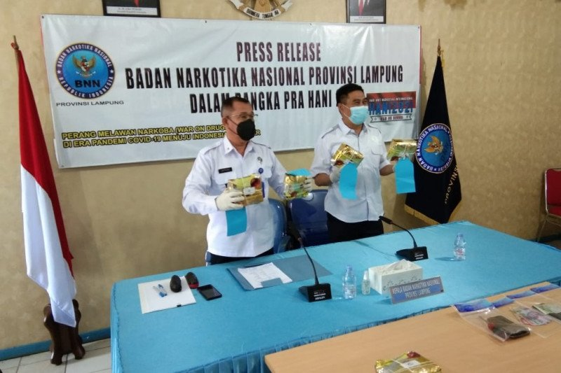 BNN Lampung gagalkan peredaran gelap sabu-sabu seberat 5,277 kg