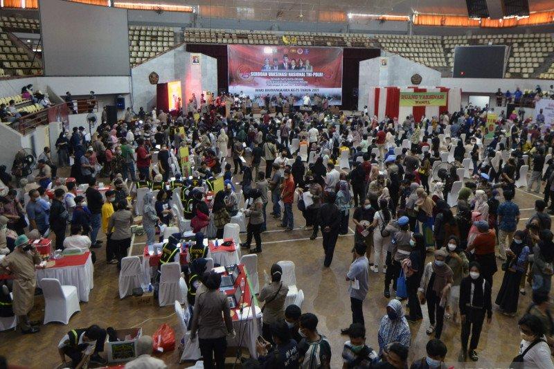 Polda Lampung catat vaksinasi massal sebanyak 42.252 orang