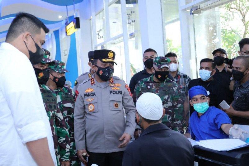 Polda Sumut telah memvaksinasi 71.428 orang