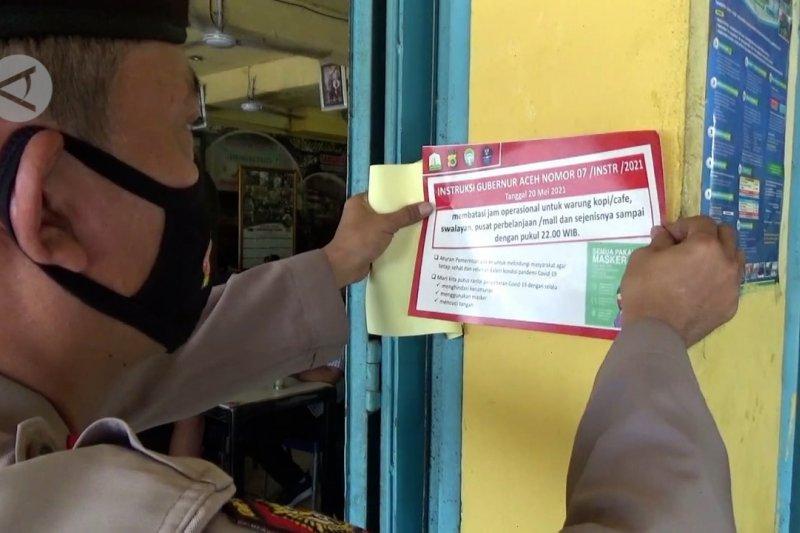 PPKM Aceh Utara, petugas berikan sanksi teguran kepada pelanggar