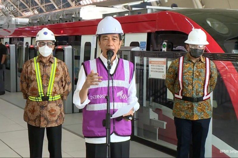 Presiden Jokowi: Pembangunan LRT Jabodebek telah mencapai 84,7persen