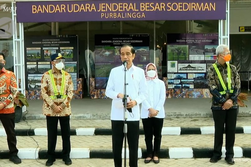 Presiden tinjau pembangunan Bandara Jenderal Soedirman Purbalingga