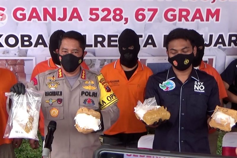 Polresta Banjarmasin gagalkan peredaran 135 kilogram sabu