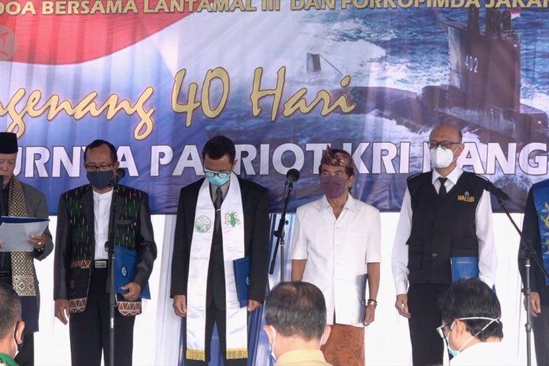 Kenang 40 hari tenggelamnya Nanggala-402, Lantamal III gelar doa bersama
