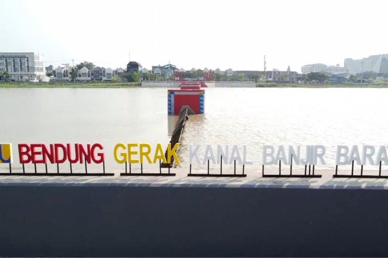 Bendung gerak, pengendali banjir sekaligus destinasi wisata