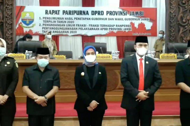 DPRD Jambi umumkan penetapan Gubernur dan Wakil Gubernur terpilih