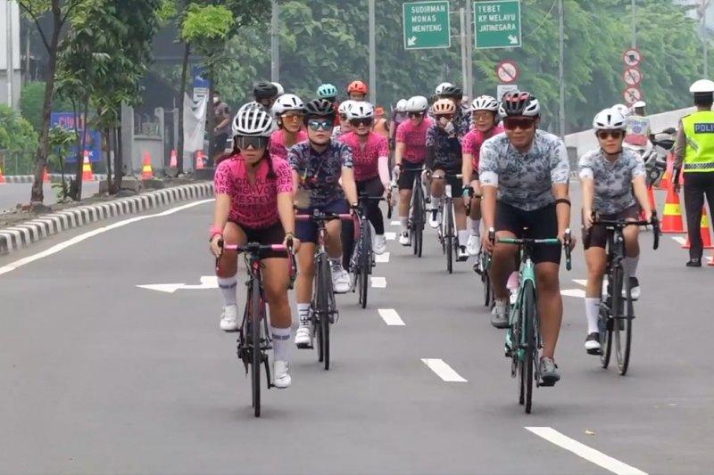 Jalur sepeda balap di JLNT Casablanca tunggu keputusan Gubernur DKI
