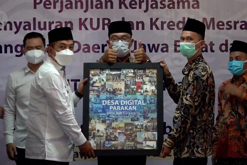 Ridwan Kamil luncurkan Desa Digital Parakan di Karawang
