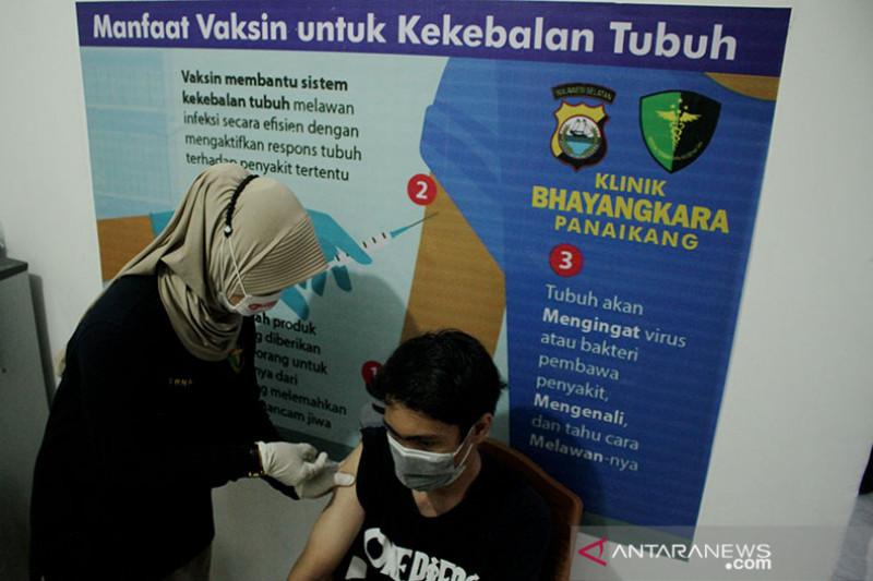Polda Sumbar buka 186 gerai vaksinasi COVID-19 gratis