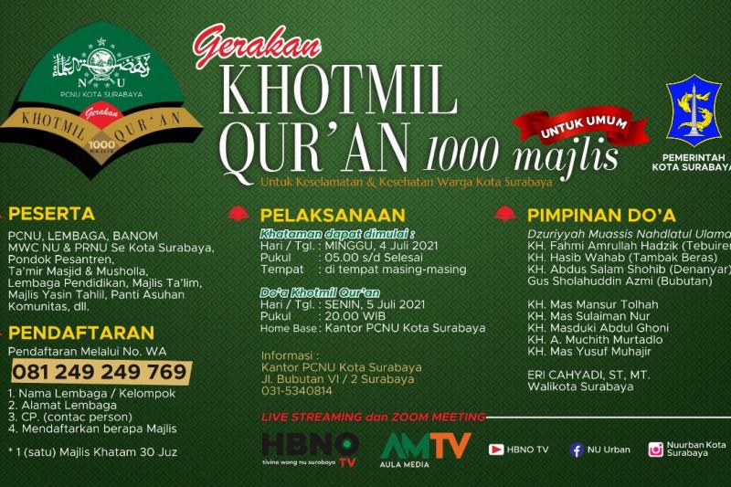 Gerakan Khotmil Quran 1.000 majelis digelar di Surabaya 4-5 Juli
