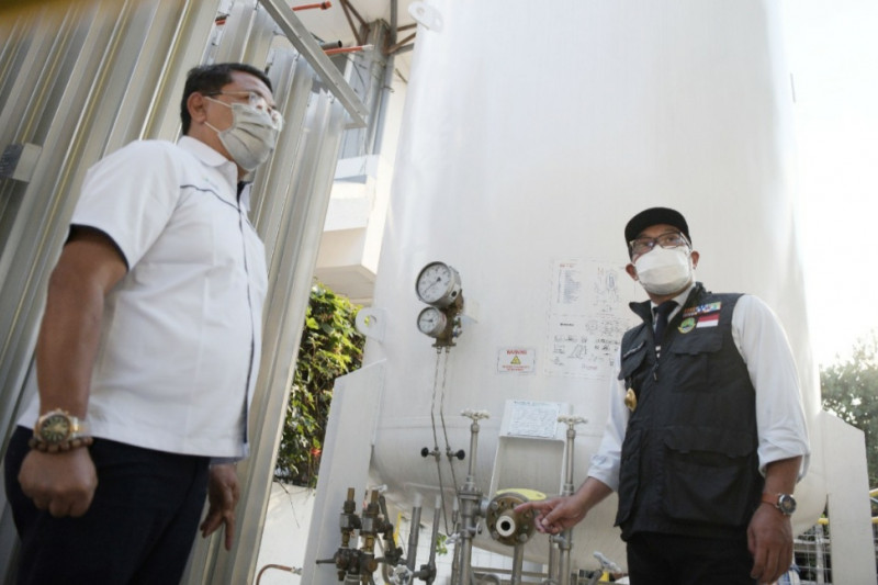 Pemprov Jabar terima 10 ton oksigen dari PT Pusri