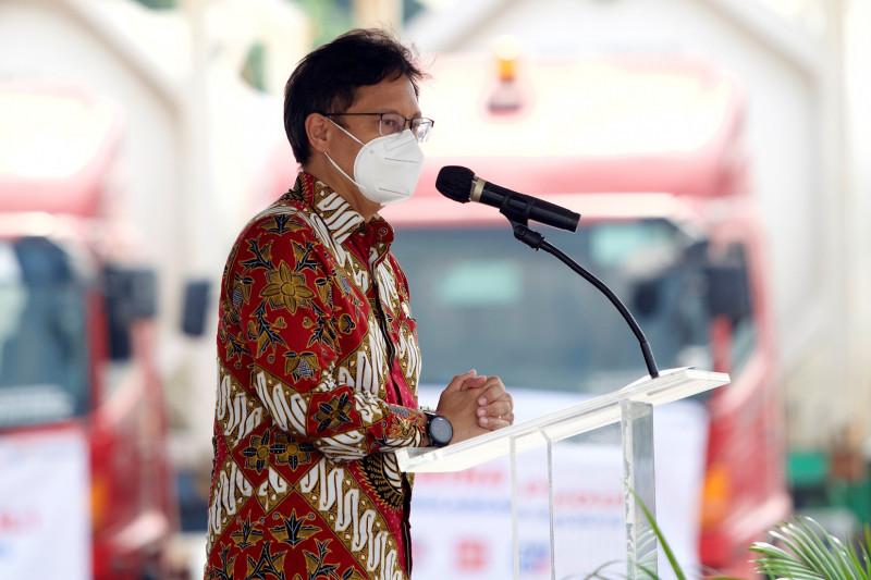 Foto3 Menkes Budi Gunadi Sadikin Beri Sambutan Saat Terima Bantuan 500 ton oksigen dari Indonesia Morowali Industrial Park Sulawesi Tengah 1