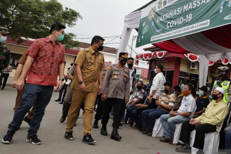 Pemkot Medan terus menggenjot target penerima vaksinasi COVID-19