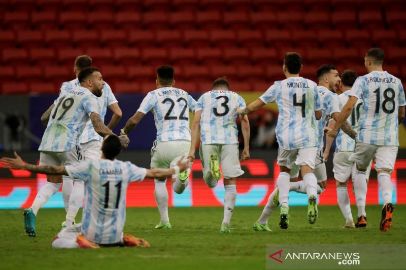 Menang adu penalti, Argentina hadapi Brazil di final Copa America