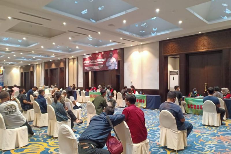 Polda Lampung dan PHRI bersinergi gelar vaksinasi COVID-19 tahap kedua