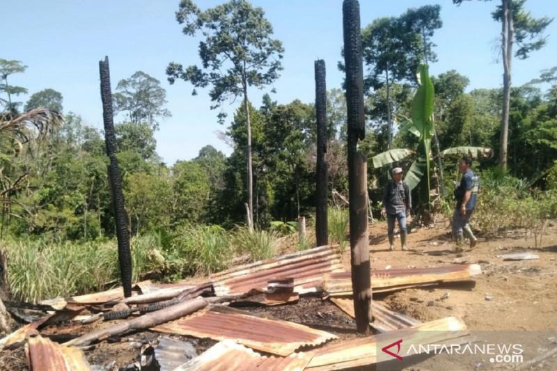 Polisi dan polhut selidiki motif pembakaran pondok kebun di Mukomuko