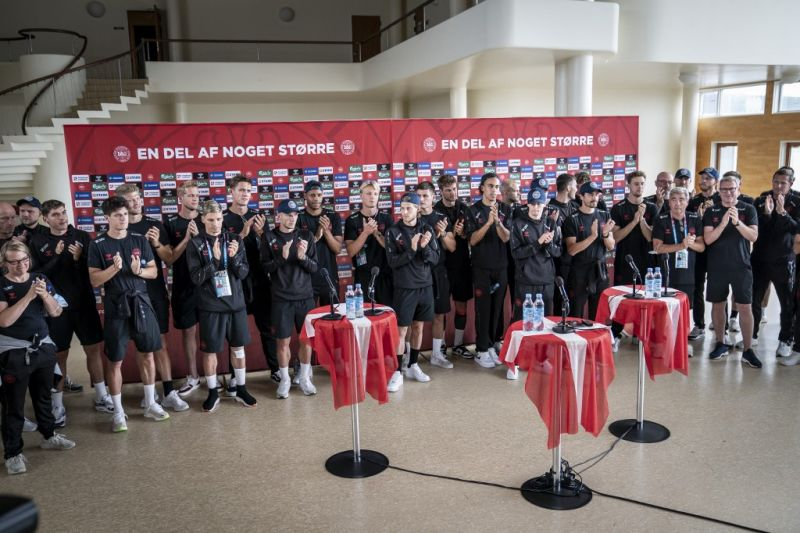 Skuad timnas Denmark disambut bak pahlawan di negerinya