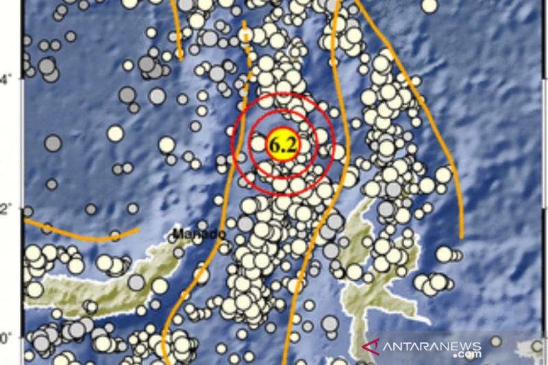 Melonguane Sulawesi Utara diguncang gempa magnitudo 6,2