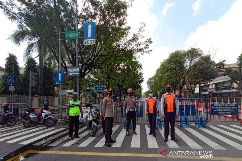 Polresta Surakarta memperpanjang penutupan ruas Jalan Slamet Riyadi