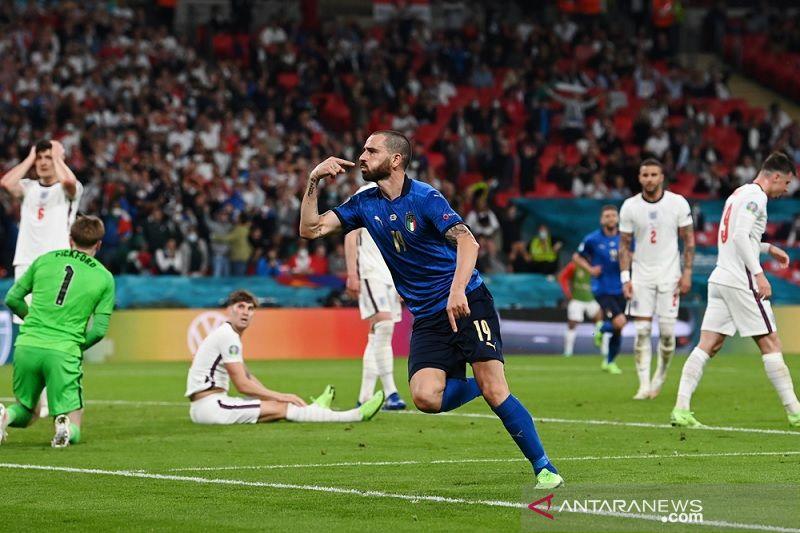 Italia imbangi Inggris 1-1, final Euro 2020 lanjut ke babak tambahan