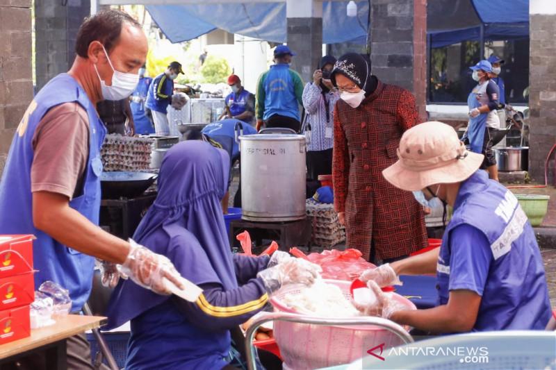Kemensos salurkan bantuan nutrisi ke warga isoman Rusunawa Komaruddin