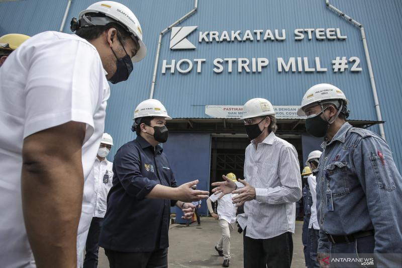 Kunjungan kerja Menteri BUMN ke Krakatau Steel